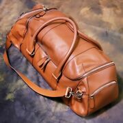 Breitling All Leather 2way Boston Shoulder Bag Novelty Collectors Unused Rare A