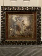 Exceptional One Of A Kind 19th Century Victorian Rose Gold Gilt Frame And Litho