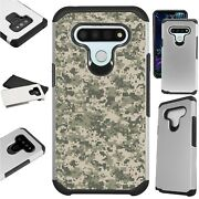 Fusion Case For Lg Hybrid Phone Cover Digital Acu Camouflage