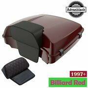 Advanblack Billiard Red Razor Tour Pack Trunk Luggage For 97 Harley Touring