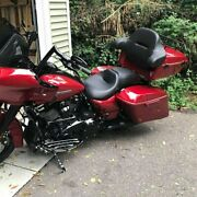 Wicked Red King Tour Pack Pak Luggage For 97+ Harley Street Electra Road Glide