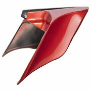 Candy Orange Stretched Extended Side Cover For 14-19 Harley Street Road Electra