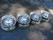53 54 55 56 Chrysler Imperial Dodge Plymouth Desoto Chrome Wire Motor Wheels