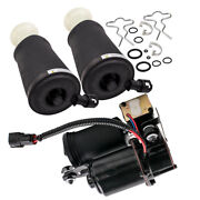 2x Rear Air Suspension Bag And 1 Compressor Pump For Lincoln Town Car 3u2z5580pa
