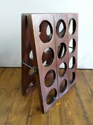 Wine Champagne Riddling Rack Collapsible Wood Latch- Small 24 Bottles