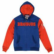 Denver Broncos Mitchell And Ness Skill Position Full Zip Jacket M