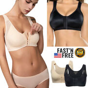 Womens Post-surgical Front Closure Bra Back Support Posture Corrector Shapewear