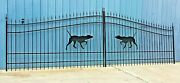 Driveway Gate 16and039 Wd Ds Steel - Iron Construction Residential Home Yard Security