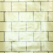 1930s Tile Vintage Wallpaper Yellow And Brown Subway Tile Faux Finish Brick