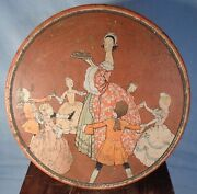 Vintage Round Lithographed Uneeda Biscuits Tin Children Dancing In Circle