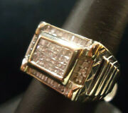 Ma2 14k White Gold Ring With 48 Diamonds .48ctw - 12.6g - Size 9.5