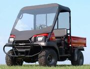 Vinyl Windshield And Roof For Kawasaki Mule 3000 / 3010 - Soft Acrylic