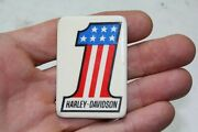 Harley 1 Pin Old Vintage Rare 1970ʻs Button Collectible Evel Knievel Eps23685