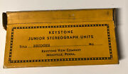 Stereoview 30s Keystone Junior Bridges Nyc Co Wales 24 Stereograph Photo Cards