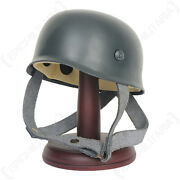 Cool Miniature German Fallschirmjager Iron Leather Liner Strap Helmet With Stand