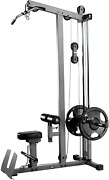 Heavy Duty Lat Pulldown And Low Row Cable Machine Home Fitness Workout Training