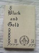1954 E. E. Bass High School Yearbook Greenville, Mississippi Black And Gold