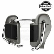 Advanblack Billet Silver Rushmore Lower Vented Fairings For Harley Touring 14-20