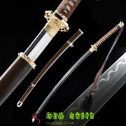 Japan Army Saber Officer's Sword Real Katana Clay Tempered T10 Steel Sharp Blade