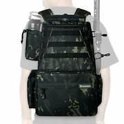 Rodeel Fishing Tackle Backpack 2 Fishing Rod Holders W 4 Tackle Boxes Large New
