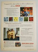 1952 Print Ad Singer Sewing Machine Centers Beautiful Cabinets New Yorkny