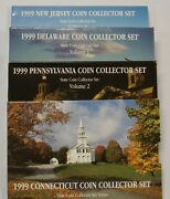 1999 State Quarters 4 Folders State Coin Collector Set Series Vol. 1 2 3 And 5