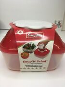 Campbell's Soup'n Salad Container Never Opened 8oz Soup 40oz Salad Vintage 2012