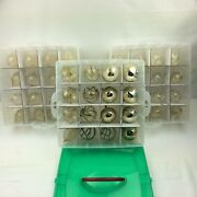 Vintage Christmas By Krebs Clear/gold Bulbs Lot Of 48 Bulbs And Storing Case