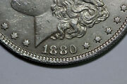 1880-o Morgan 90 Silver Dollar About Unc Vam17 Check Marks Med O Oval Mdx4025