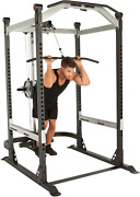 Heavy Duty Power Cage W Lat Pulldown And Low Row Cable Machine Home Workout - New