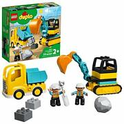 Lego Duplo Construction Truck And Tracked Excavator 10931 Building Kit New 2020