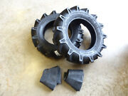 Two New 6-14 Bkt Tr-126 Deep Lug R-1 Tires With Tubes Compact 4wd Farm Tractors