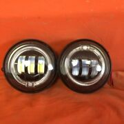 4.5 Auxiliary Daymaker Black Spot With Orange Halo Passing Hid Led Fog Light