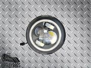 7 Led Headlight With Red Halo Running Light Harley Davidson Daymaker White Bulb
