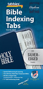 Tabbies Silver-edged Bible Indexing Tabs, Old And New Testament, 80 Tabs Including