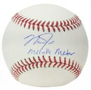 Mike Trout Autographed Millville Meteor Angels Baseball Mlb Authentic