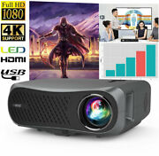 Android6.0 Projector 8500 Lumen 1080p Led 4k Wifi Video Home Theater Cinema Hdmi