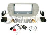 Radio Dash Kit Combo Standard 2din White Pearl + Wire Harness + Antenna Ft47