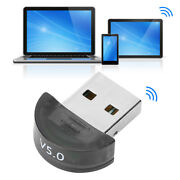 Bluetooth5.0 Usb Adapter Transmitter Receiver 2in 1 For Laptop Computer Phone