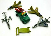 Vintage Lot Plastic Military Toy Figures Truck Airplanes Army Air Force Js