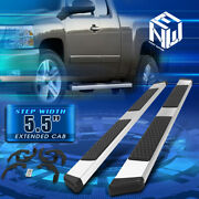 For 07-19 Silverado Sierra Extended Cab 4-dr 5.5 Step Nerf Bar Running Boards