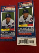 2 Tickets September 1, 2013 Cubs Vs Philadelphia Phillies Game 69 Mint Condition