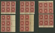 Lot Of 6 Canal Zone J18 Postage Due Plate Blocks Of 6 Stamps Czj18 Pb Lot