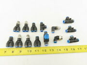 Festo 6mm Tube Push To Connect Fitting Mixed Lot Y Coupling Elbow Lot Of 14