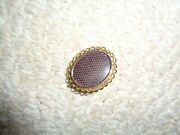 1880 Victorian Mourning Broach Hair Criss Cross Design Gold Filled Holder Rope