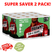Brawny Tear-a-square Paper Towels, 16 Mega Double Rolls=32 Rolls, Free Shipping