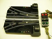 Pair 720a American Flyer Remote Switch Tracks W/ Illuminated Controller