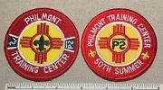 2 Philmont Training Center Boy Scout Patches 50th Summer Ranch Camp Nm Bsa