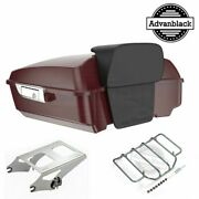 Crimson Red Sunglo Chopped Tour Pack Luggage For 97-20 Harley Flhr Flhxs Fltrx