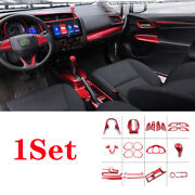Abs Red Automobile Interior Decor Full Set Fit For Honda Fit Jazz 2018 2014-2020
